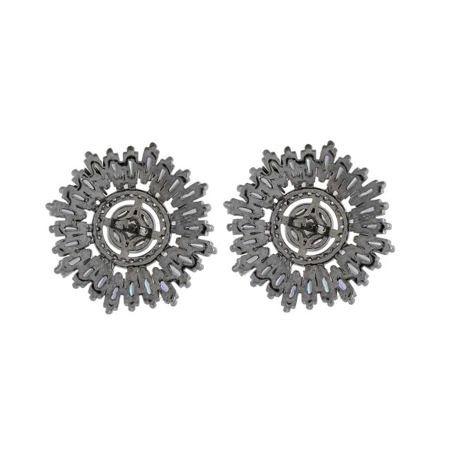 Cubic Zirconia Diamond Baguette Earrings