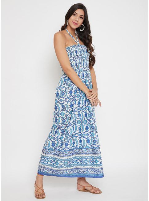 Floral Tube Dress for Women
