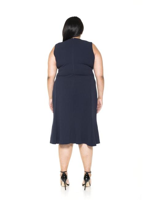 Anna Midi Colorblock Dress - Plus