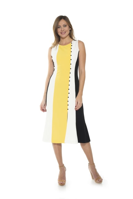 Anna Midi Colorblock Dress