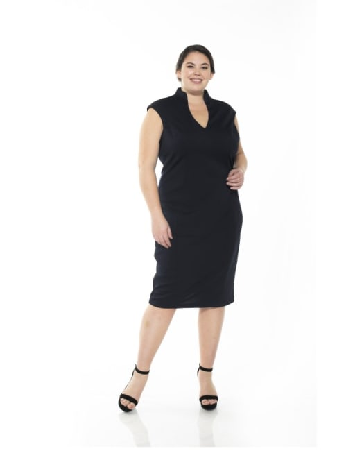 Katrina V-Neck Midi Dress - Plus