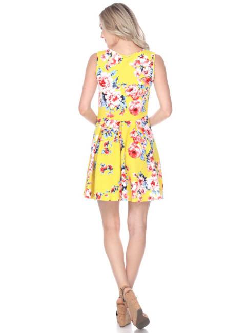 Flower Print Crystal Dress