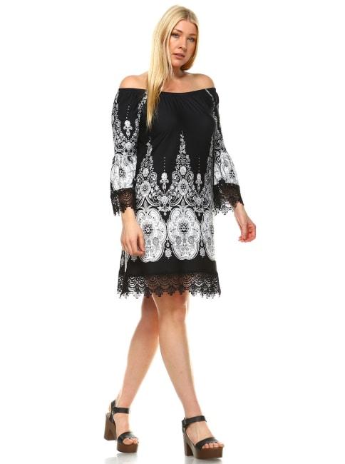 Lace hemline 'Mya' Dress - Plus
