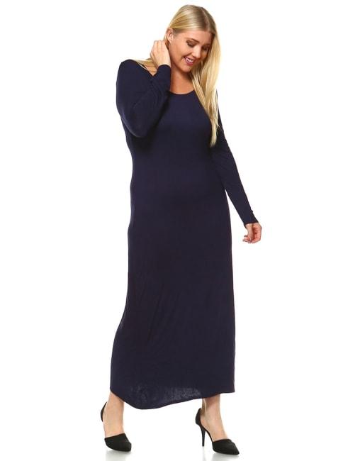 Long Sleeves 'Ria' Dress - Plus