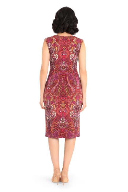 Julia Cap Sleeve Printed Midi Sheath Dress - Petite