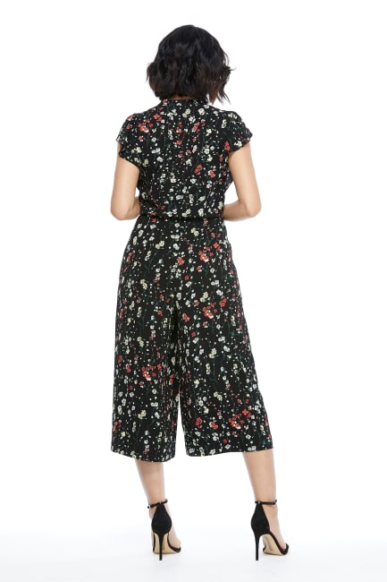 Susie Ruffle Sleeve Tie Front Cropped Jumpsuit - Petite