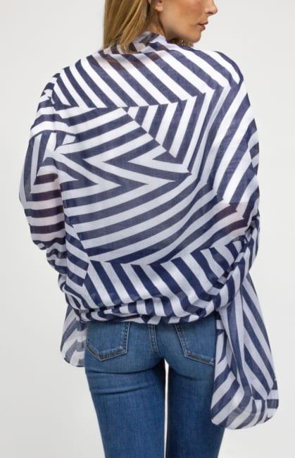 Oversized Stripe Shawl