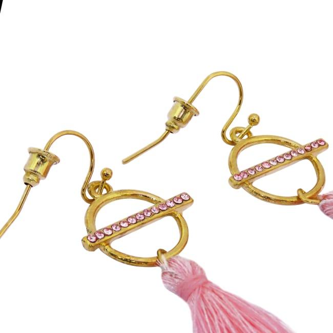 Diamond Tasseled Earrings