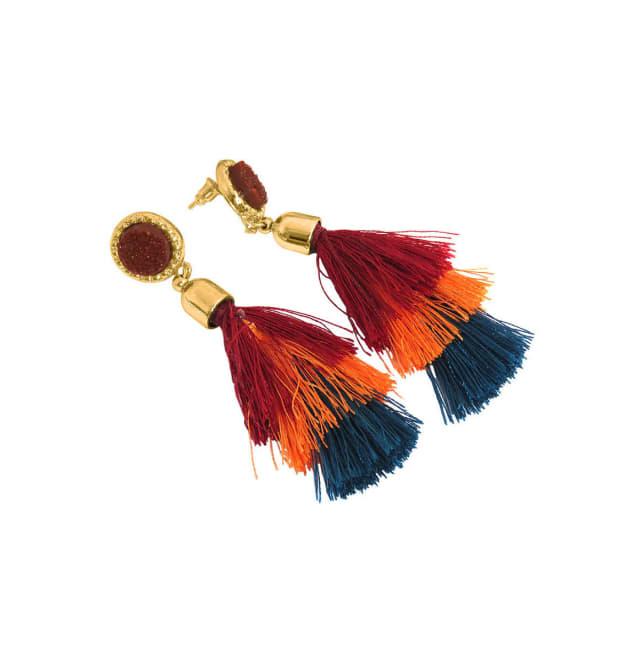 Cubic Zirconia Diamond Tassel Earrings