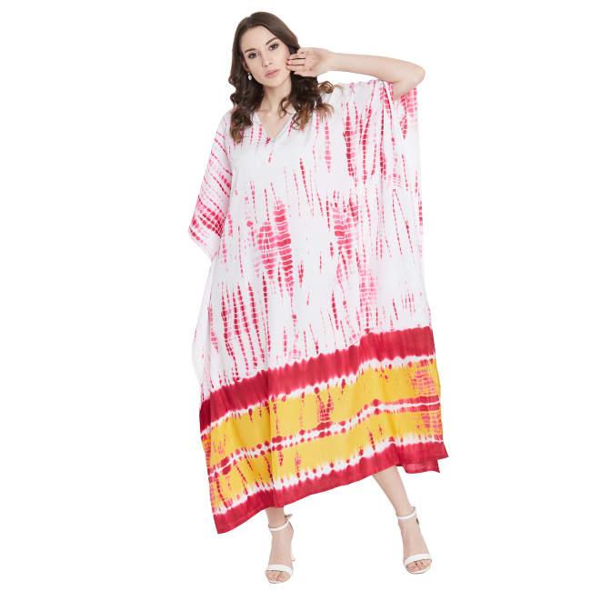 Tie-Dye Handmade Printed Kaftan Dress