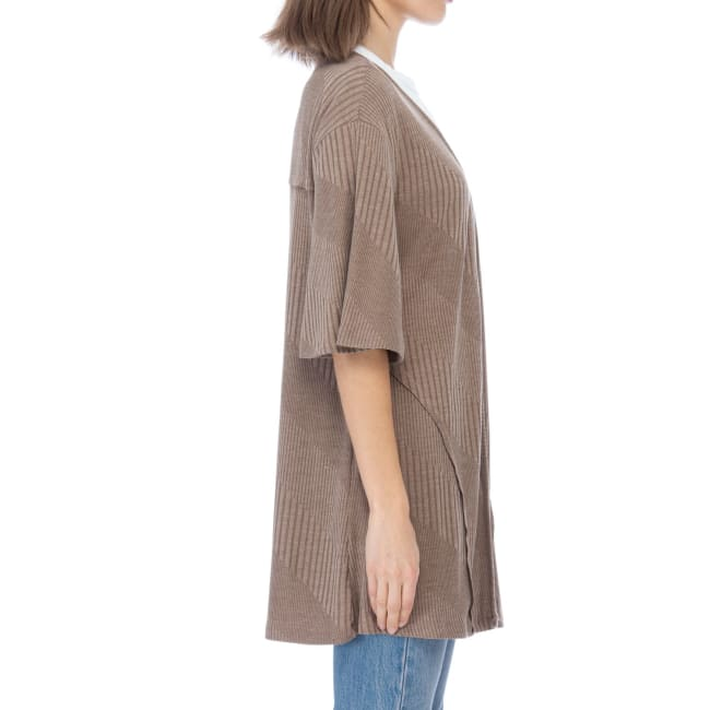 Short Sleeve Loose Fitted Cardigan