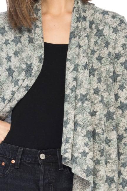 Amie Drape Long Sleeve Front Cardigan