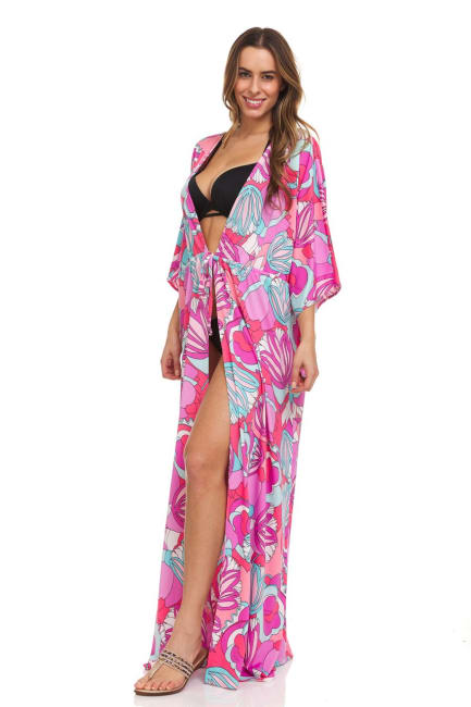 Coral Maxi Robe