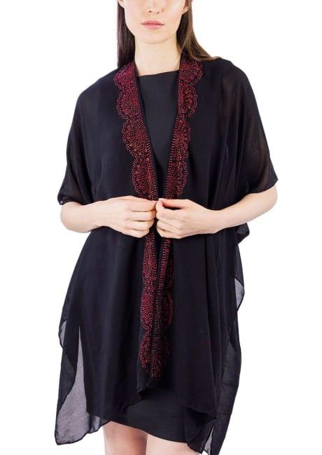 Scallop Stone Border Kimono