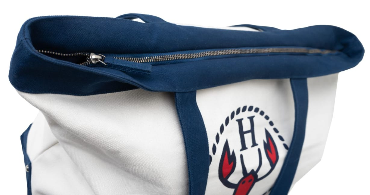 The Hamptons Large Logo Canvas Tote