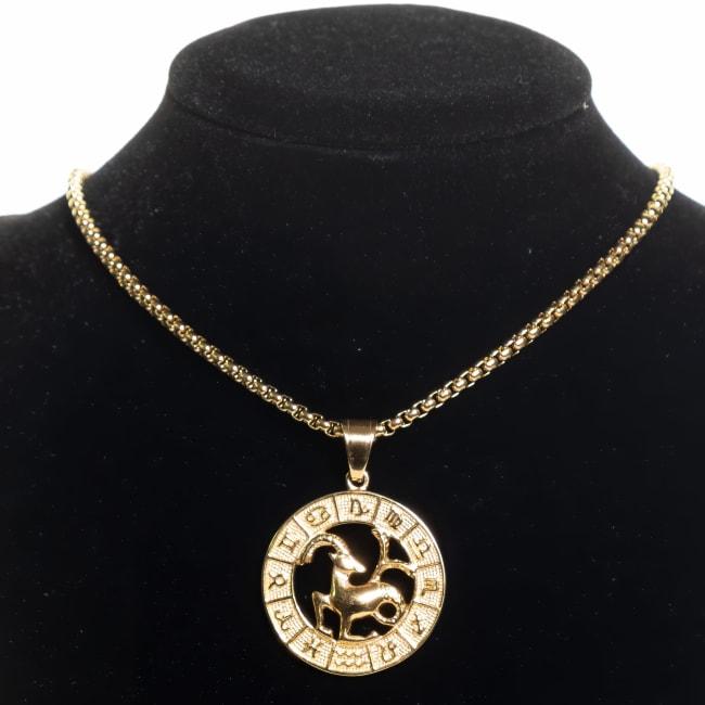 Dell Arte by Jean Claude Capricorn Zodiac Sign Pendant Necklace