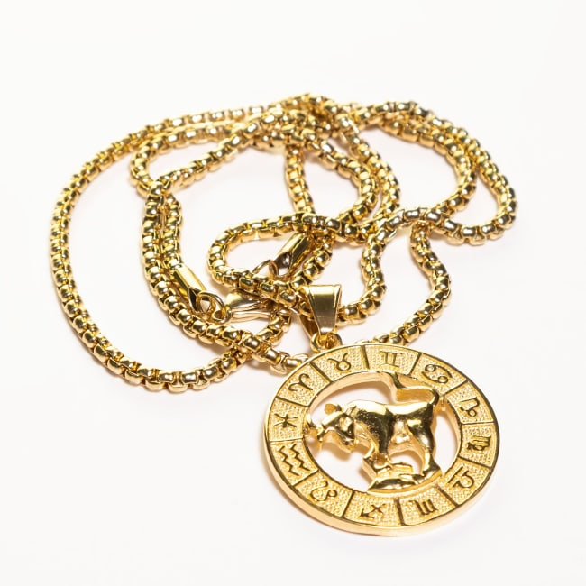 Dell Arte by Jean Claude Taurus Zodiac Sign Pendants Necklace