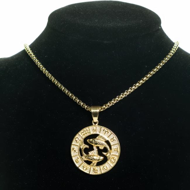 Dell Arte by Jean Claude Pisces Zodiac Sign Pendants Necklace