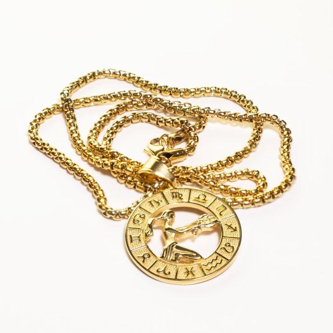 Dell Arte by Jean Claude Virgo Zodiac Sign Pendants Necklace