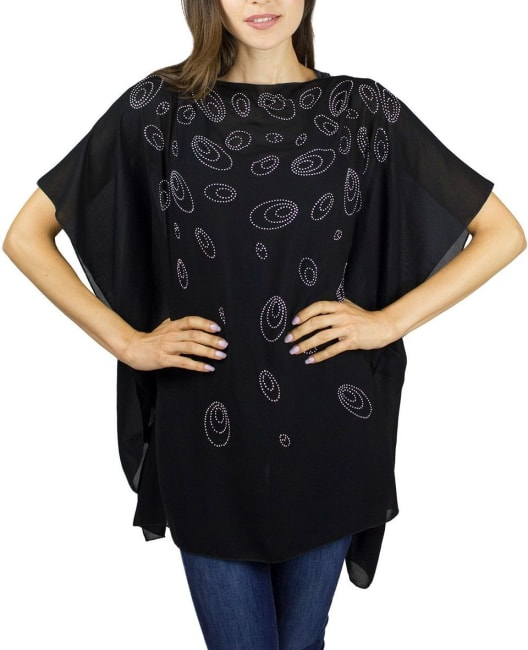 Galaxy Stones and Pearls Poncho