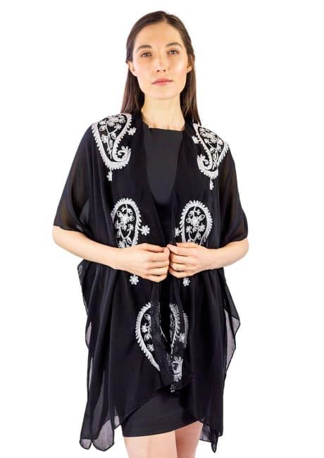 Paisley Border Kimono