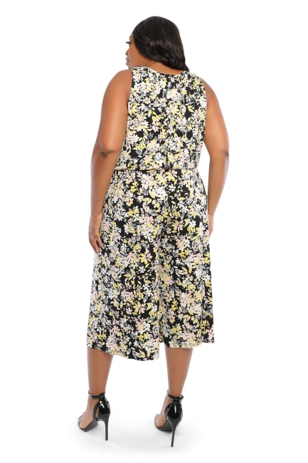 Claudia Cropped Blossom Bunch Jumpsuit - Plus