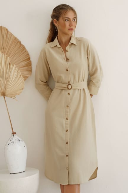 Jess Long Sleeves Button up Shirt Dress