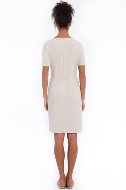 Annalise Short Sleeve Side Tie Overlay Dress