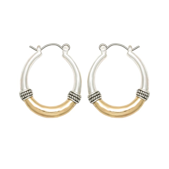 Museum Collection Two-Tone Hoop