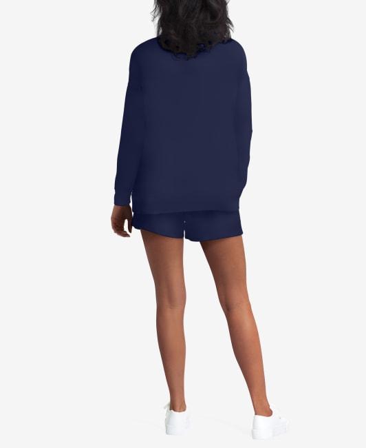 H Halston Studio Crew Neck Sweatshirt