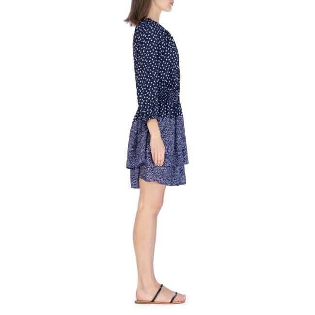 3/4 Sleeve Smocked Waist Mini Dress