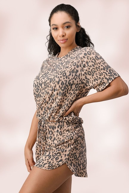 Leopard Lounge Wear Pajama Set