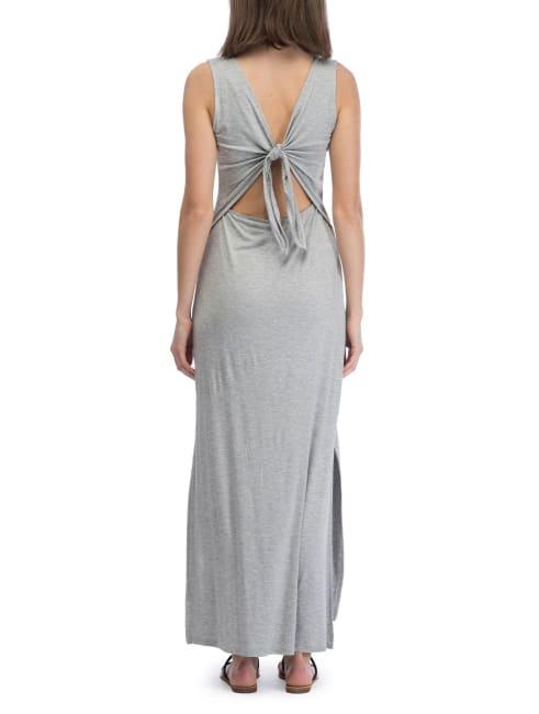 V-Neck Tie Maxi Dress