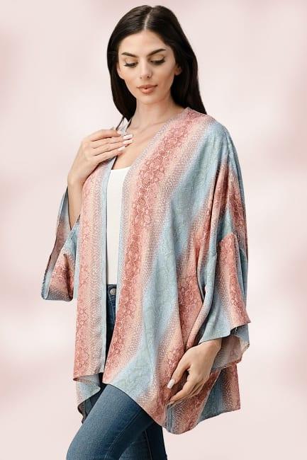 Oversized Kimono in Snakeskin Printed