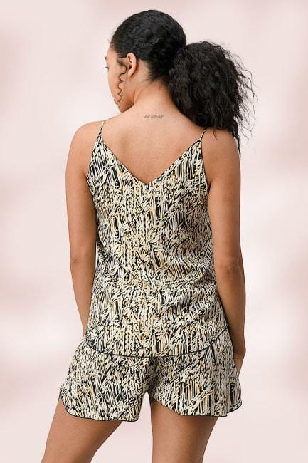 Matching Loungewear Set Of Cami Top And Short
