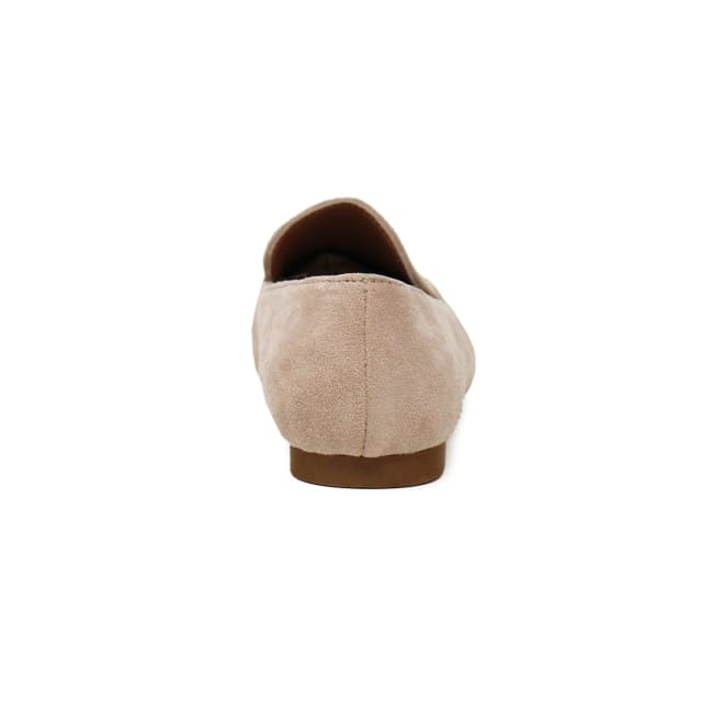 Suede Ballet Flat With Cover Toe