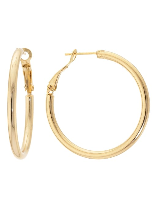 Boxed Fine Gold Over Silver Plated 39mm Hoops
