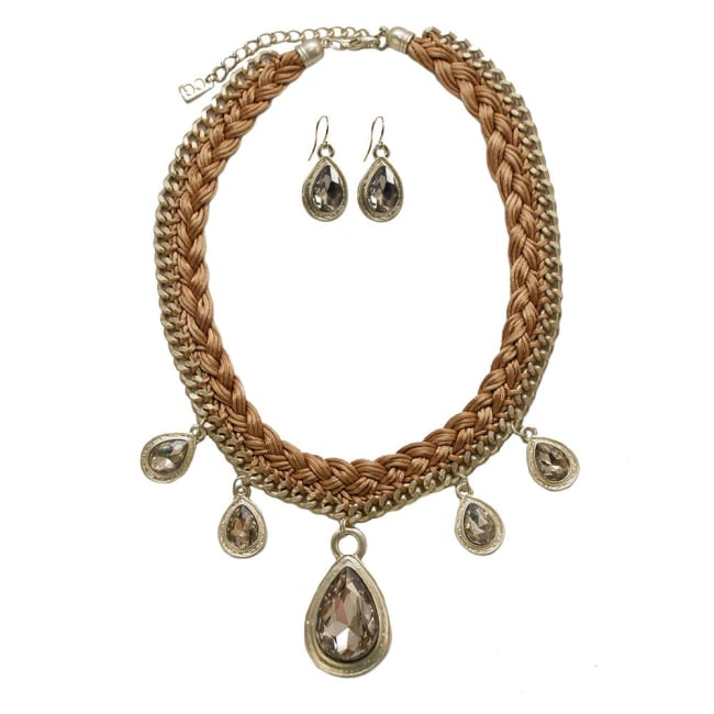 Droplets Necklace and Earrings Set