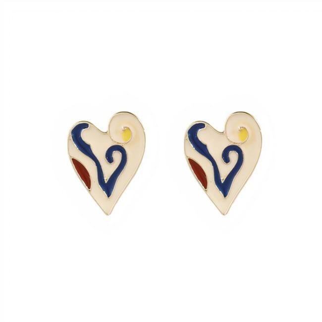 CB Heart Stud Earrings