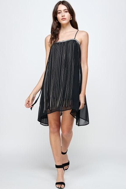 KAII Micro Chain Fringe Dress