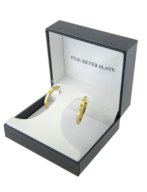 Boxed gold over fine silver plated 23mm clicktop hoops