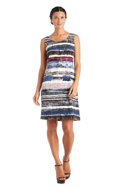 Striped Dress With Flyaway Jacket
