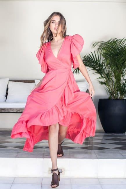 Carmen Wrap Maxi Dress