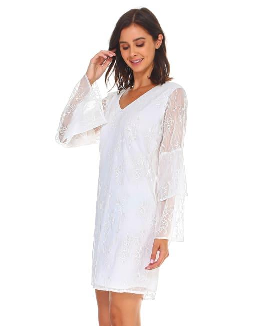 Laura V-Neck Lace Dress
