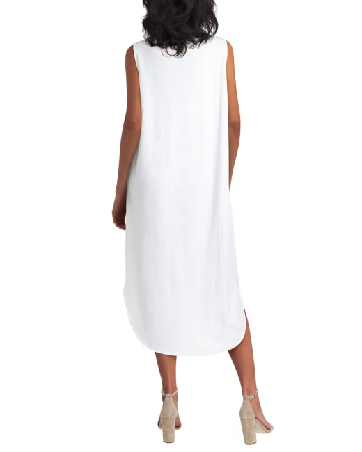 H Halston Knit High Low Hem Sleevless Dress