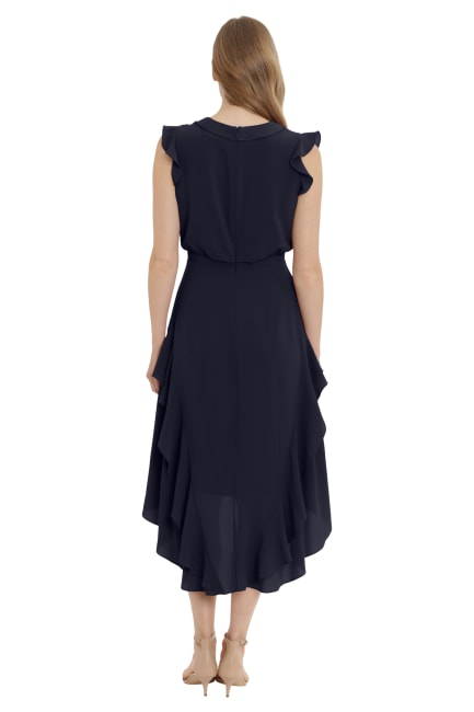 Bella Ruffle Surplus Hi-Low Midi Dress