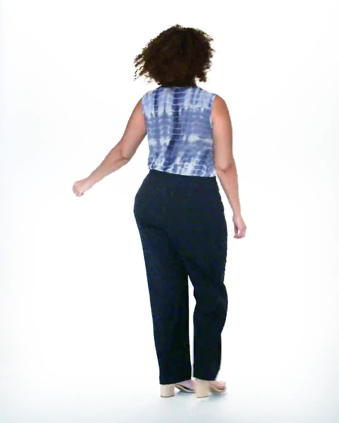 Roz & Ali Plus Secret Agent Tummy Control Pull On Pants - Average Length-Plus - Video