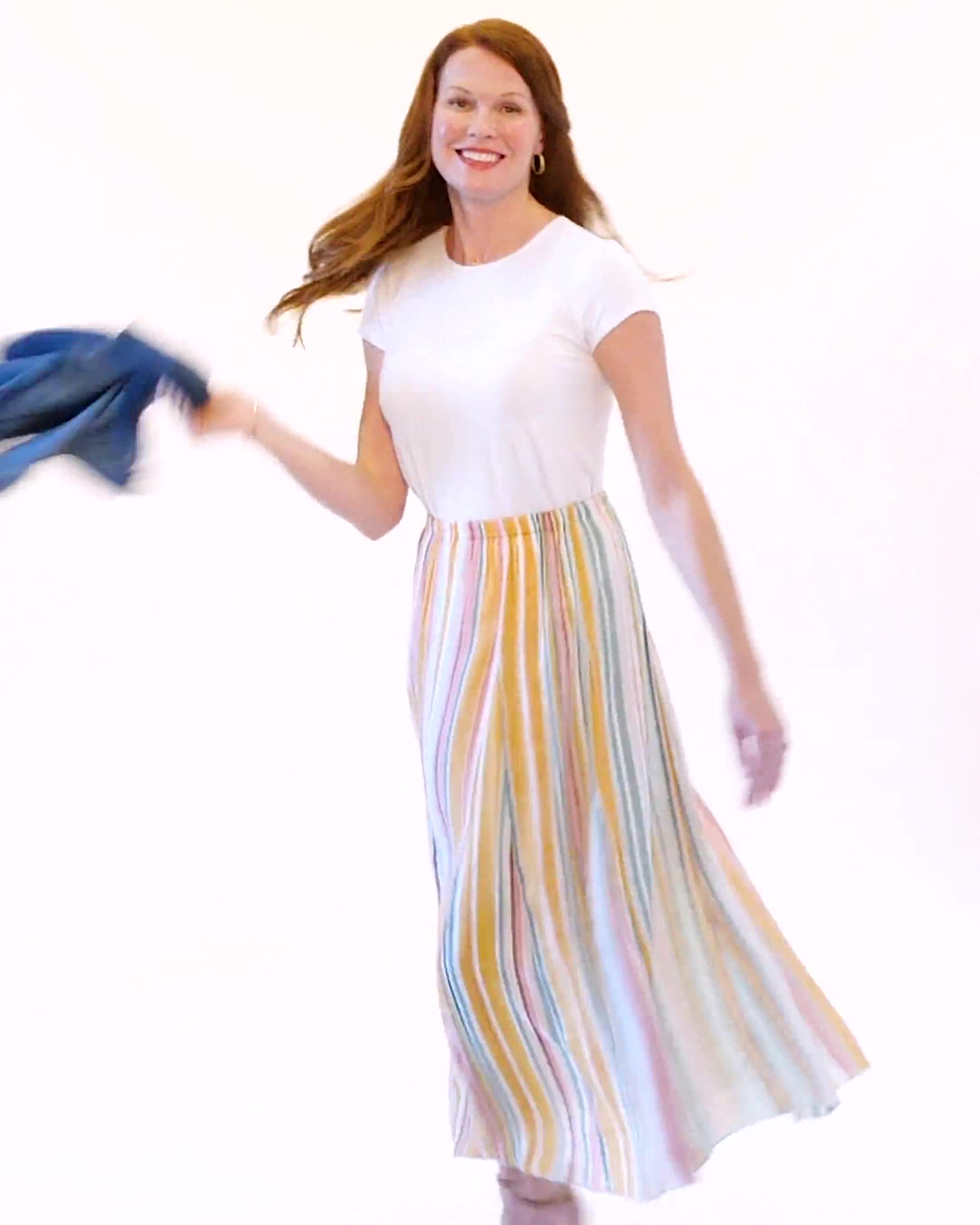 Textured Pull-On Skirt - Video