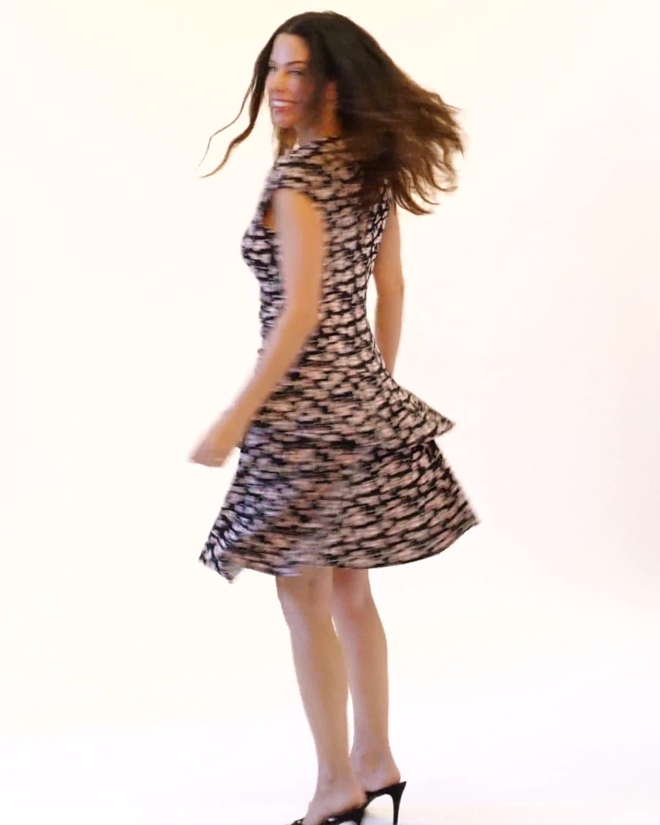 Faux Wrap Tier Hem Dress - Video