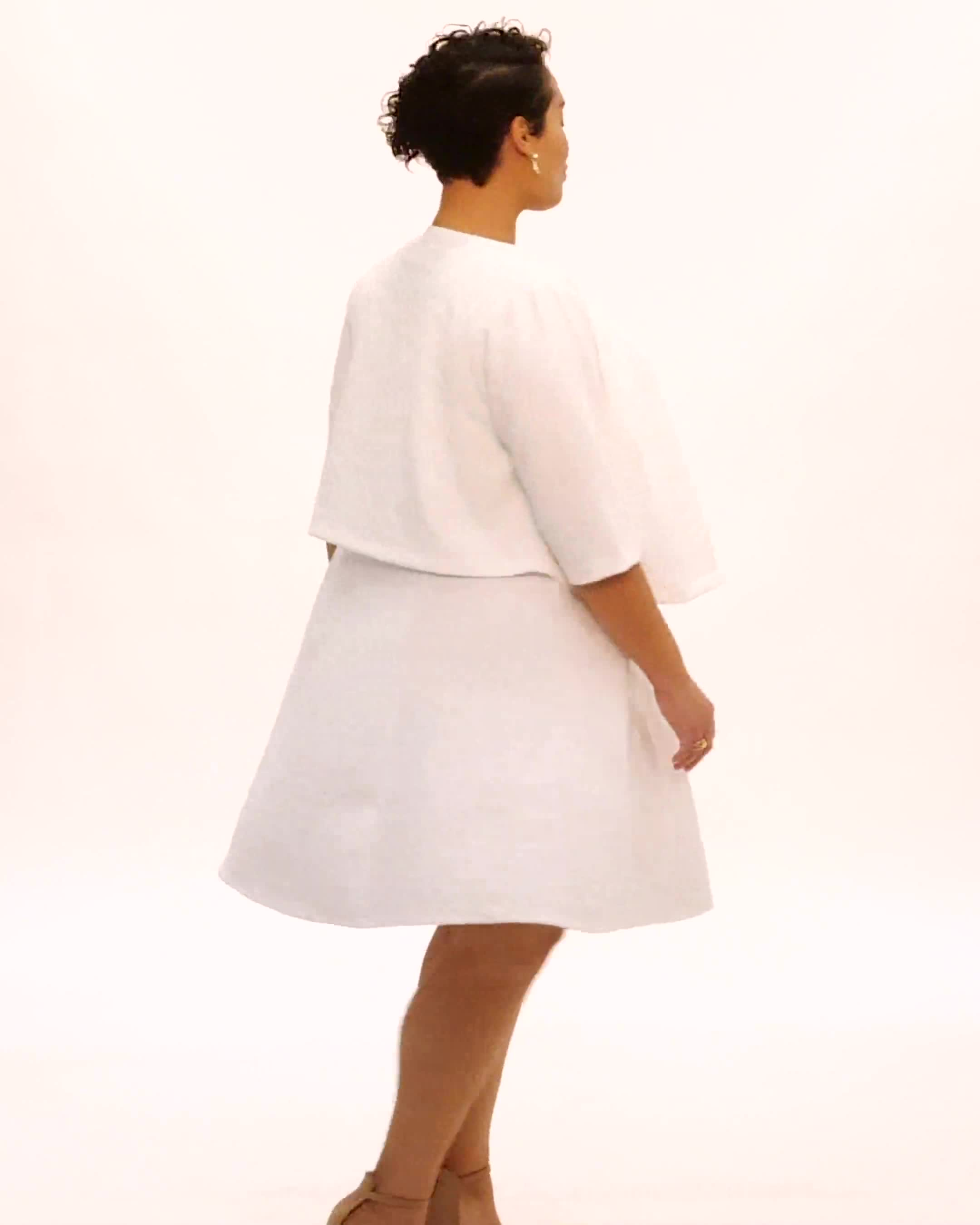 Floral Jacquard Jacket Dress - Video